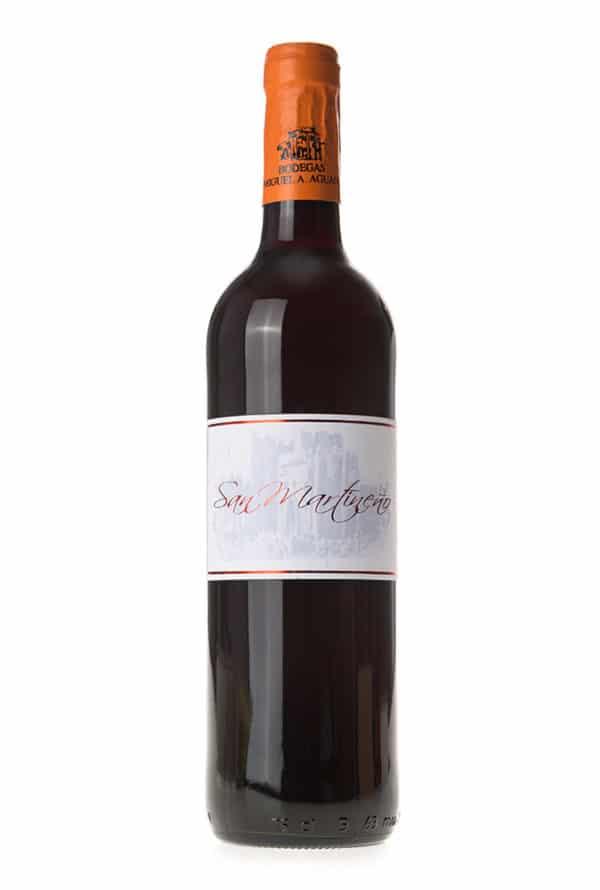 Gran vino tinto San Martineño de la tierra de Castilla