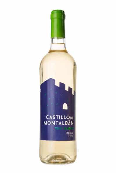 Gran vino blanco Castillo de Montalban. Vino de la tierra de Castilla.