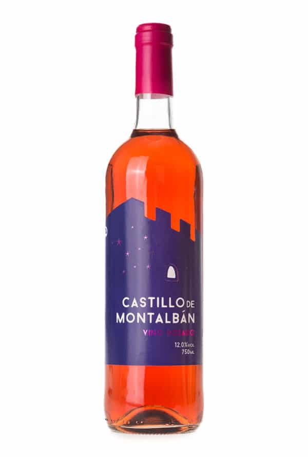 Gran vino rosado Castillo de Montalban. Vino de la tierra de Castilla.