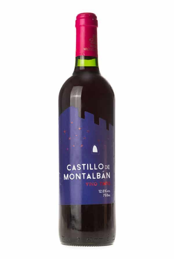 Gran vino tinto Castillo de Montalban. Vino de la tierra de Castilla.