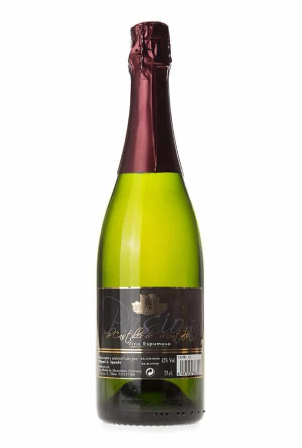 Gran vino blanco espumoso Pasión de Castillo de Montalban.